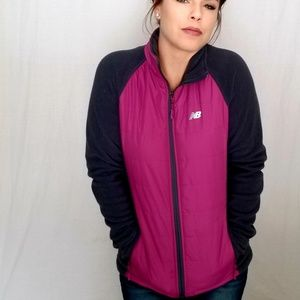 Pink and Gray athletic jacket by new balance